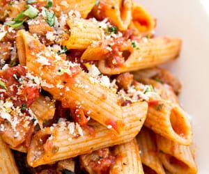 pasta, food, and tomatoes image