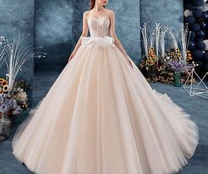 bridal, bride, and beautiful wedding dress image