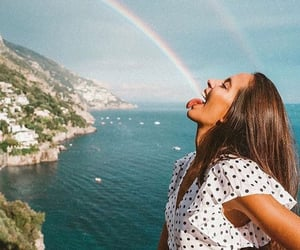 girl, rainbow, and summer image