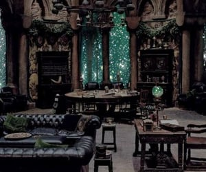 slytherin, harry potter, and common room image