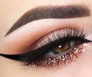 beauty, makeup, and eye image