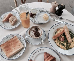 breakfast, parisian, and cafe image