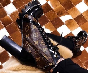 boots, Louis Vuitton, and shoes image