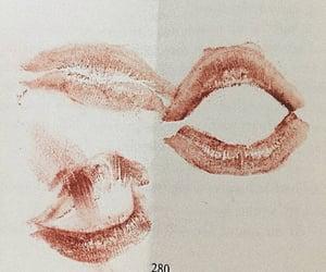kiss, lipstick, and lips image