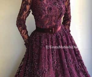 purple - dress - fashion image