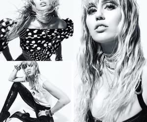 beauty, black and white, and miley cyrus image
