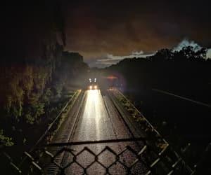 highway, night, and road image
