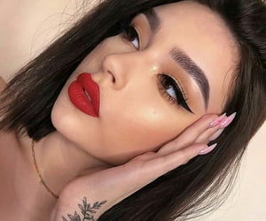 makeup and red lips image