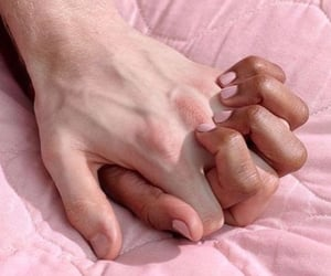 hands, holding hands, and pink image