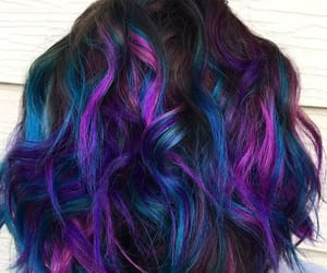 colorful, dyed hair, and hair image