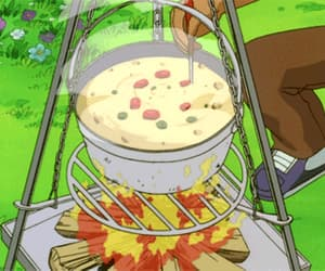 anime, soup, and yummy image