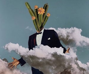 aesthetic, cactus, and head in the clouds image