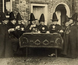 witch, vintage, and black and white image