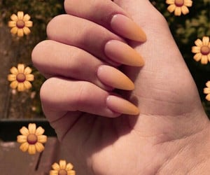 nails, yellow, and nail art image