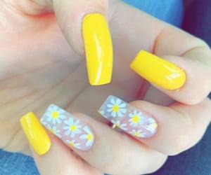 yellow nails, nail design, and summer nails image