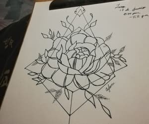 drawing, flowers, and geometry image