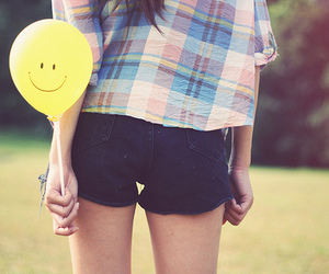 smile, balloons, and photography image