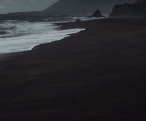 dark, beach, and nature image