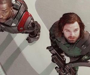 falcon, Marvel, and sebastian stan image