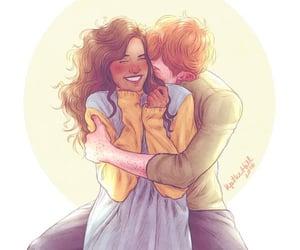 cute couple, illustration, and deviantart image