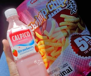 chips, japanese, and pink image