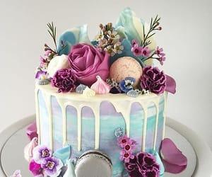 cake, flowers, and dessert image