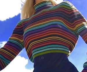 aesthetic, outfit, and rainbow image