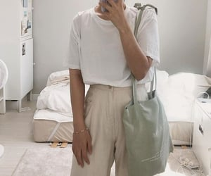 aesthetic, green, and eco tote bag image
