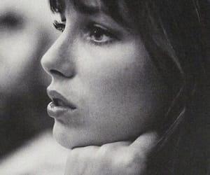 jane birkin, black and white, and beauty image