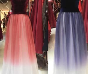 prom dress long, prom dress 2019, and ombre prom dress image