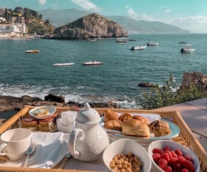 beach, beautiful, and breakfast image