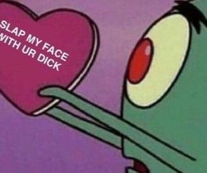 heart, spongebob squarepants, and meme image