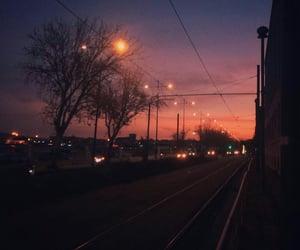sky, street lamp, and way image