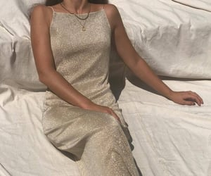 aesthetic, dress, and gold image