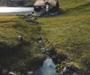 cottage, tumblr, and water image
