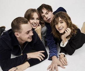 stranger things, dacre montgomery, and maya hawke image