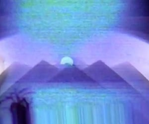 blue and vhs image