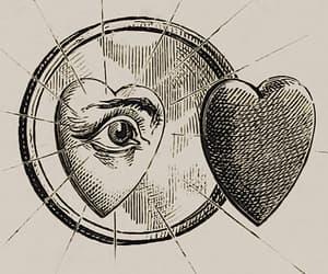 art, eye, and heart image