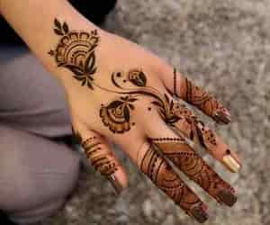 beauty, mehndi, and fashion image