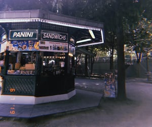 food, lights, and paris image