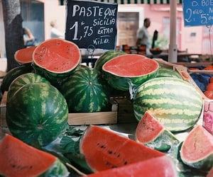 summer, sun, and watermelon image