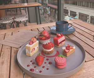 cake, food, and strawberries image