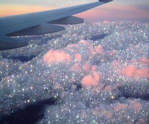 aesthetic, glitter, and sky image