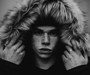 cameron boyce, black and white, and boy image