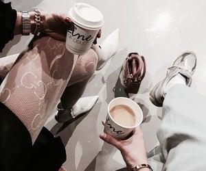 coffee, fashion, and girls image