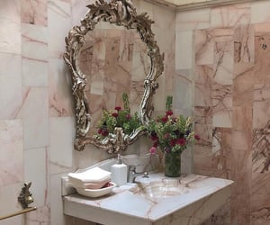 flowers, interior, and marble image
