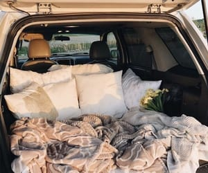 car, blanket, and cozy image