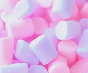 marshmellows, pastel, and pink image