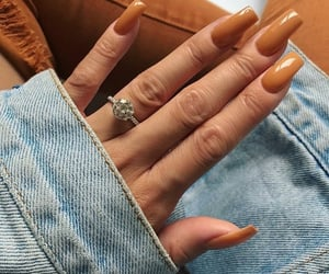 nails, beauty, and orange image