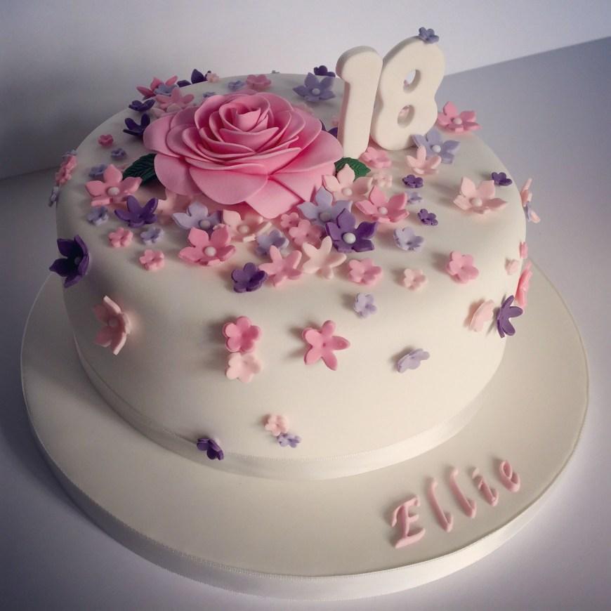Birthday Cake Design Pretty 18th Birthday Cake For Pretty Girl Design Elina Prawito